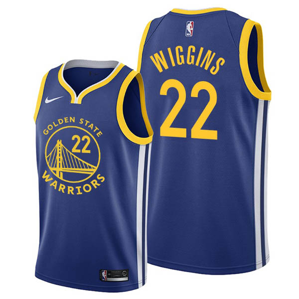 Camisetas nba baratas del Azul #22 Andrew Wiggins para Golden State Warriors