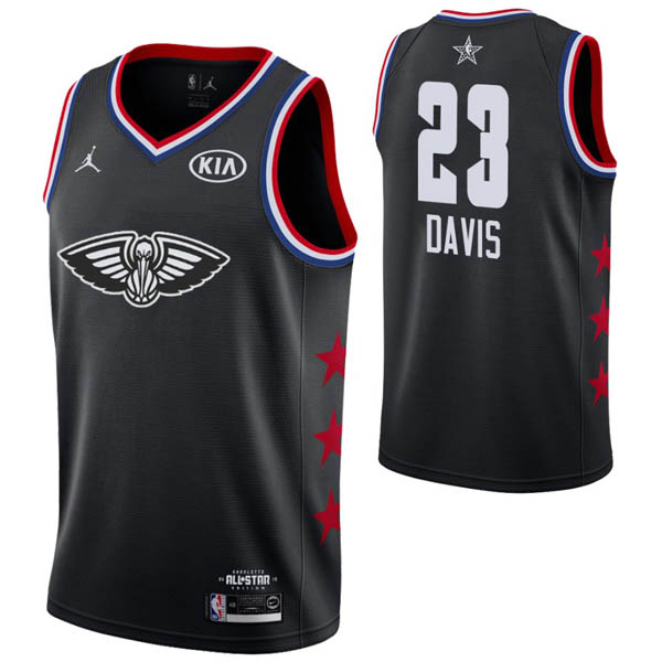 Camiseta Anthony Davis baratas para #23 negro de All-Star 2019
