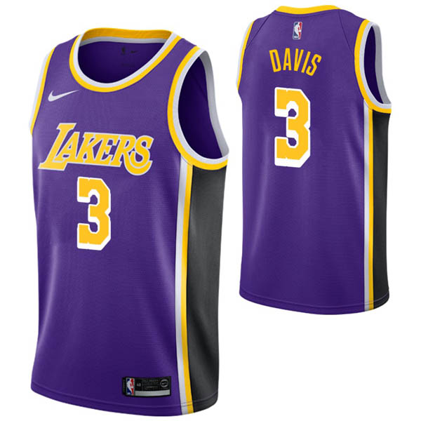 Camiseta Anthony Davis baratas para #3 Púrpura de Los Angeles Lakers