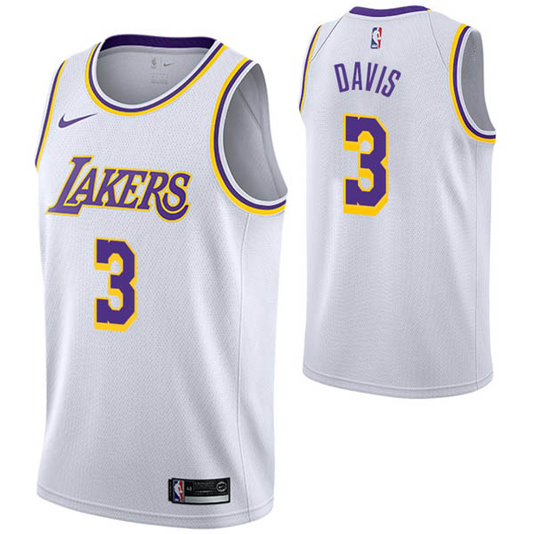 Camiseta Anthony Davis baratas para #3 blanco de Los Angeles Lakers