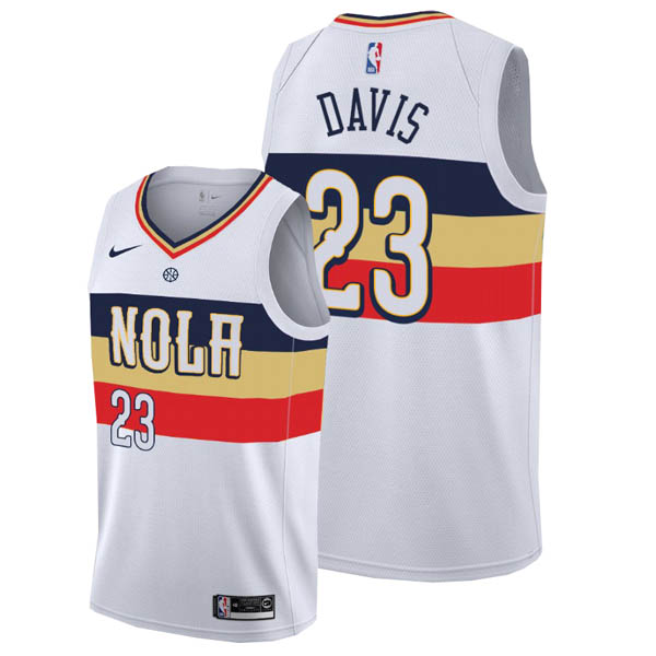 Camiseta Anthony Davis baratas para #23 Earned blanco de New Orleans Pelicans