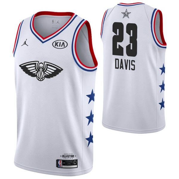 Camiseta Anthony Davis baratas para #23 blanco de All-Star 2019