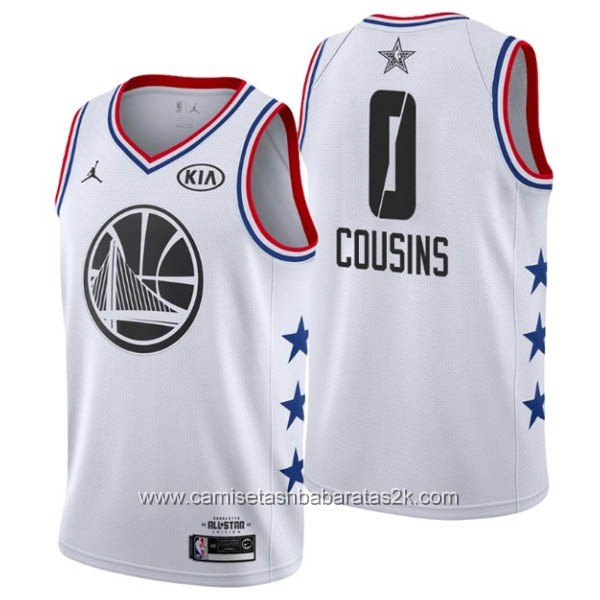 Camisetas NBA baratas blanco #0 DeMarcus Cousins 2019 All-Star
