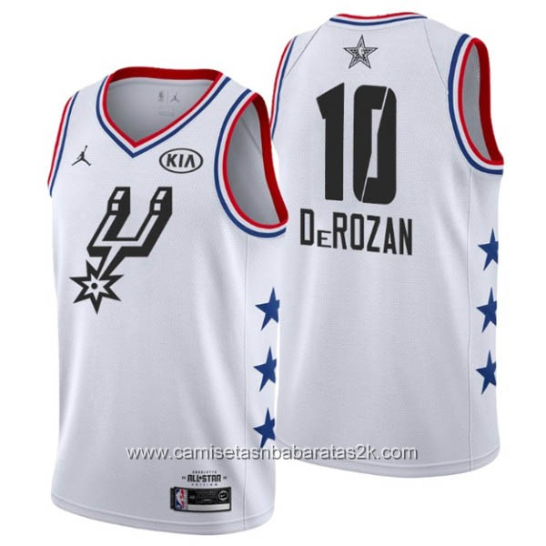 Camisetas NBA baratas blanco #10 DeMar DeRozan 2019 All-Star