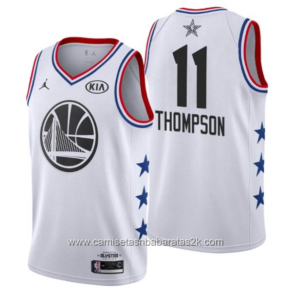 Camisetas NBA baratas blanco #11 Klay Thompson 2019 All-Star