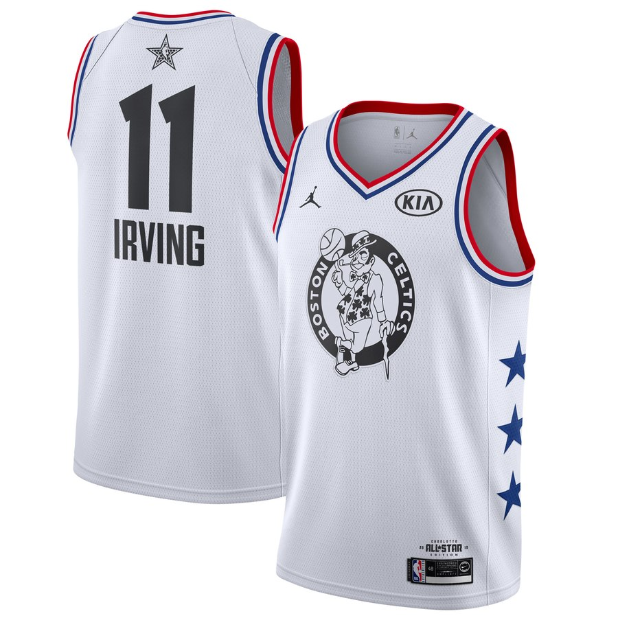 Camisetas NBA baratas blanco #11 Kyrie Irving 2019 All-Star