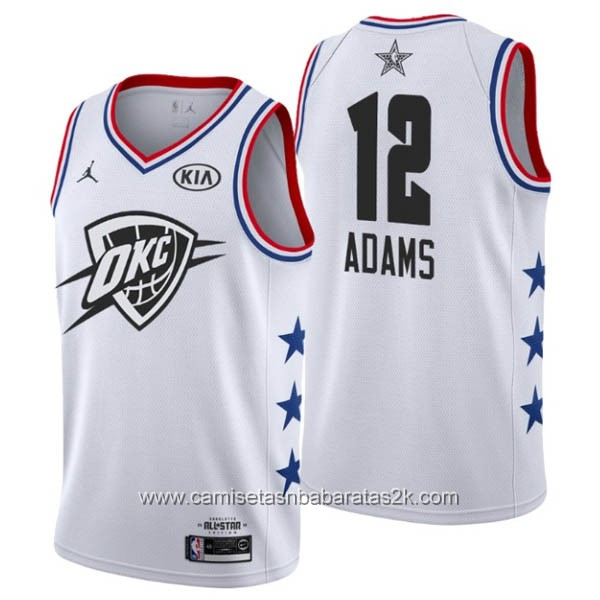 Camisetas NBA baratas blanco #12 Steven Adams 2019 All-Star