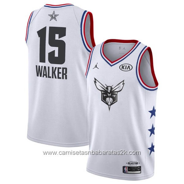 Camisetas NBA baratas blanco #15 Kemba Walker 2019 All-Star