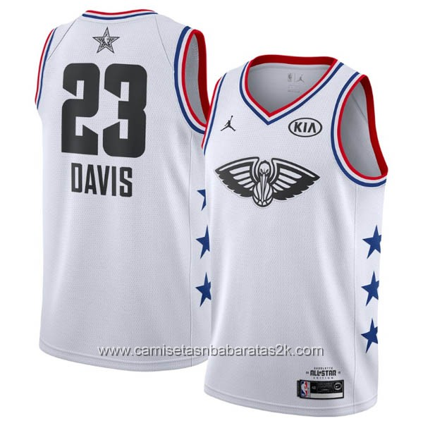 Camisetas NBA baratas blanco #23 Anthony Davis 2019 All-Star