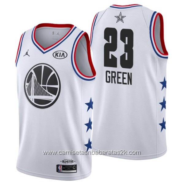 Camisetas NBA baratas blanco #23 Draymond Green 2019 All-Star