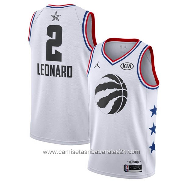 Camisetas NBA baratas blanco #2 Kawhi Leonard 2019 All-Star