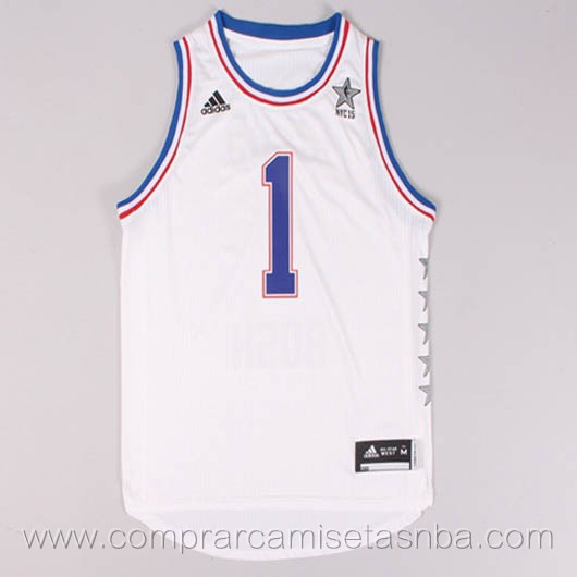 Camisetas de baloncesto NBA blanco Chris Bosh 2015 All-Star