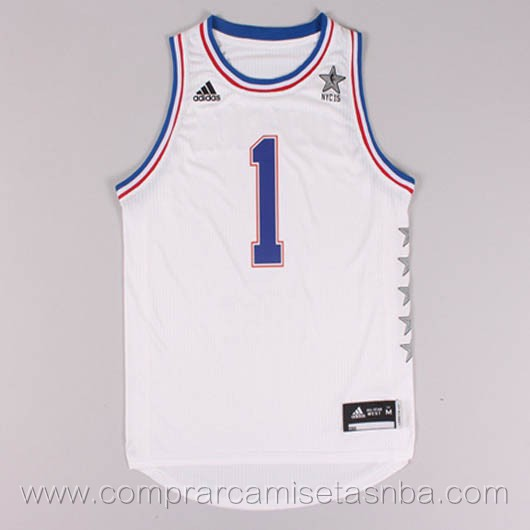 Camisetas de baloncesto NBA blanco Derrick Rose 2015 All-Star