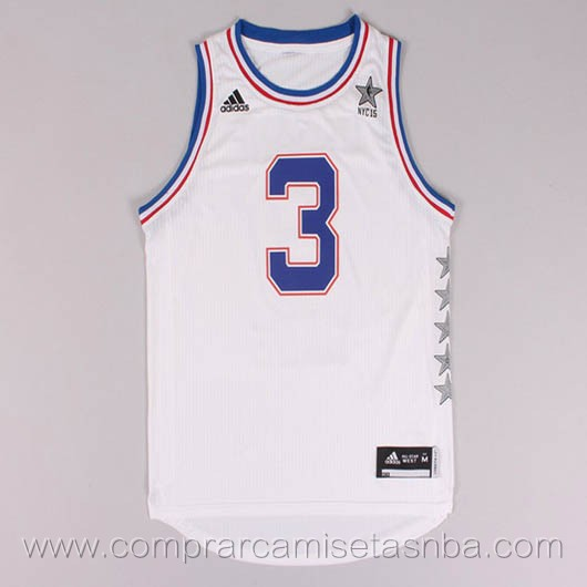 Camisetas de baloncesto NBA blanco Dwyane Wade 2015 All-Star