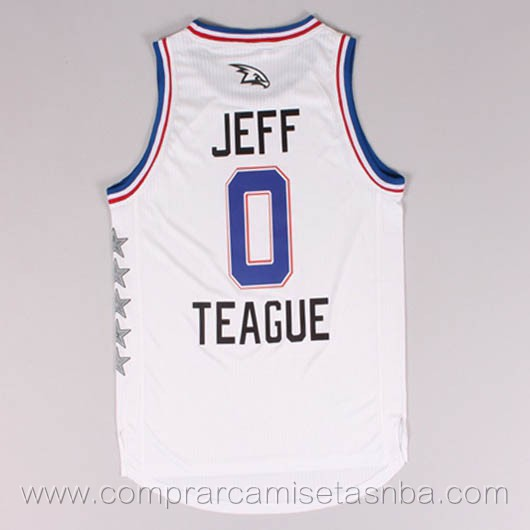 Camisetas de baloncesto NBA blanco Jeff Teague 2015 All-Star