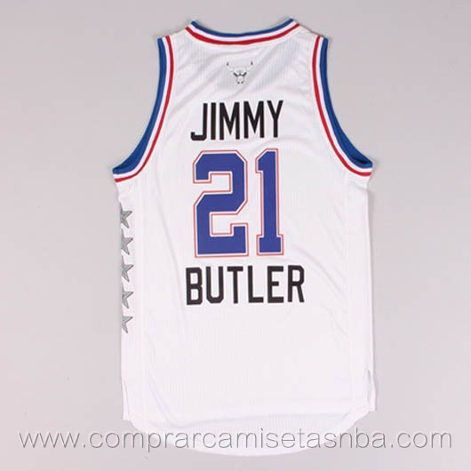 Camisetas de baloncesto NBA blanco Jimmy Butler 2015 All-Star