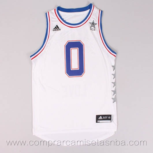 Camisetas de baloncesto NBA blanco Kevin Love 2015 All-Star
