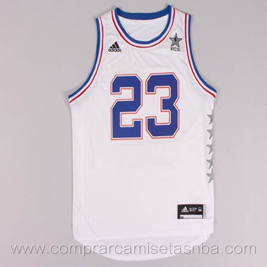 Camisetas de baloncesto NBA blanco Lebron James 2015 All-Star