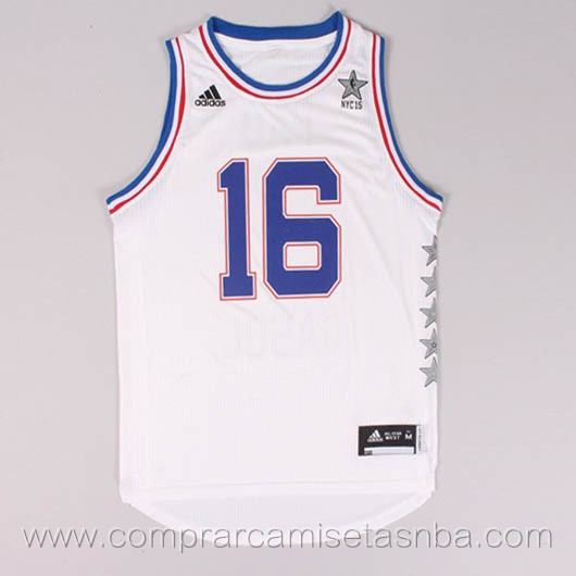 Camisetas de baloncesto NBA blanco Pau Gasol 2015 All-Star