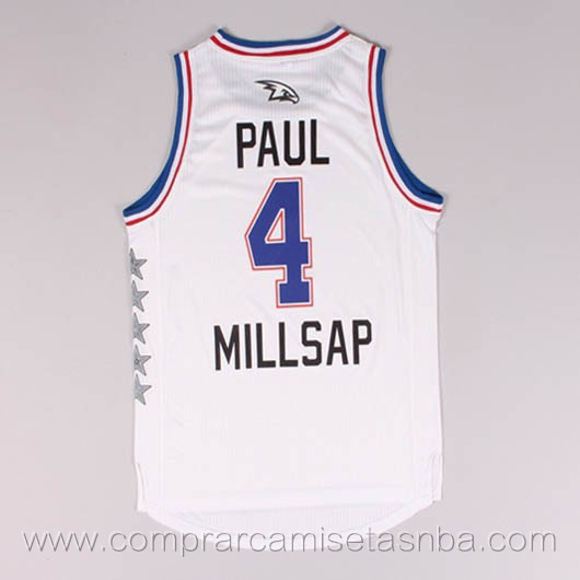 Camisetas de baloncesto NBA blanco Paul Millsap 2015 All-Star
