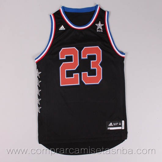 Camisetas de baloncesto NBA negro Anthony Davis 2015 All-Star