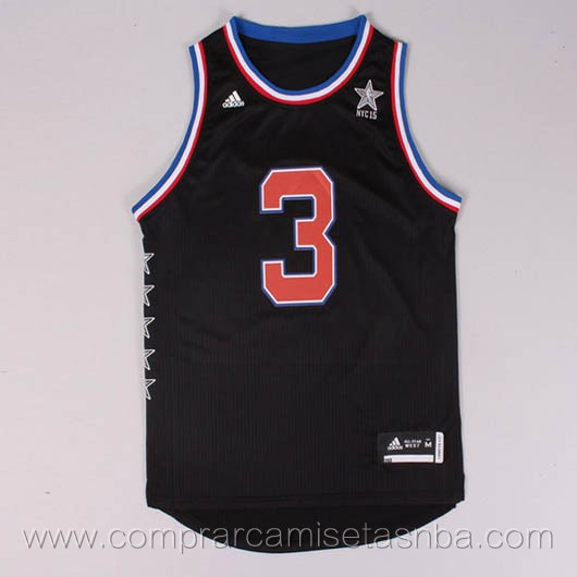 Camisetas de baloncesto NBA negro Chris Paul 2015 All-Star