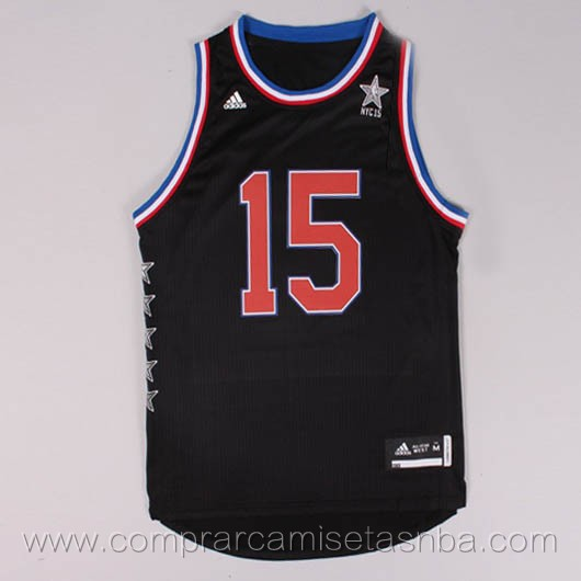 Camisetas de baloncesto NBA negro Demarcus Cousins 2015 All-Star