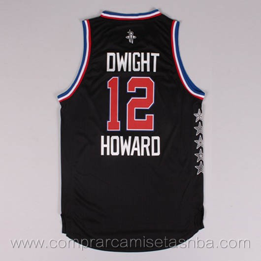 Camisetas de baloncesto NBA negro Dwight Howard 2015 All-Star