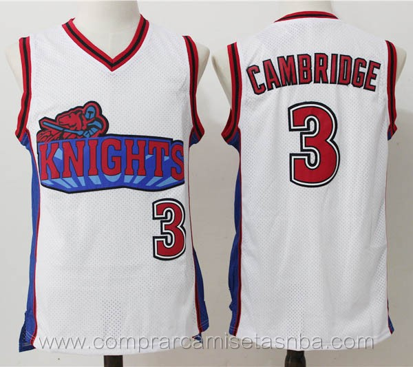 Camisetas de baloncesto blanco Calvin Cambridge Los Angeles Knights