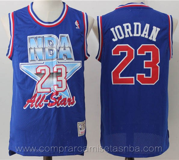 Camisetas nba del Chicago azul Michael Jordan Chicago Bulls 1993 all-star