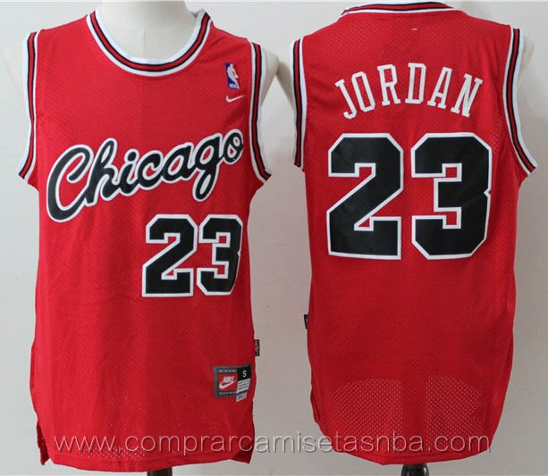 Camisetas nba del Chicago rojo Michael Jordan Chicago Bulls