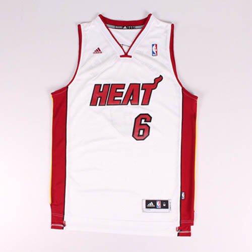Camisetas nba del blanco Nickname King James LeBron James Miami Heat