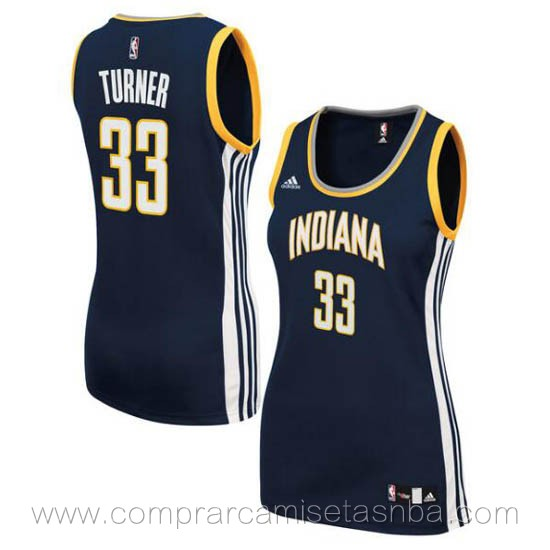Camisetas nba del mujer azul oscuro Myles Turner Indiana Pacers