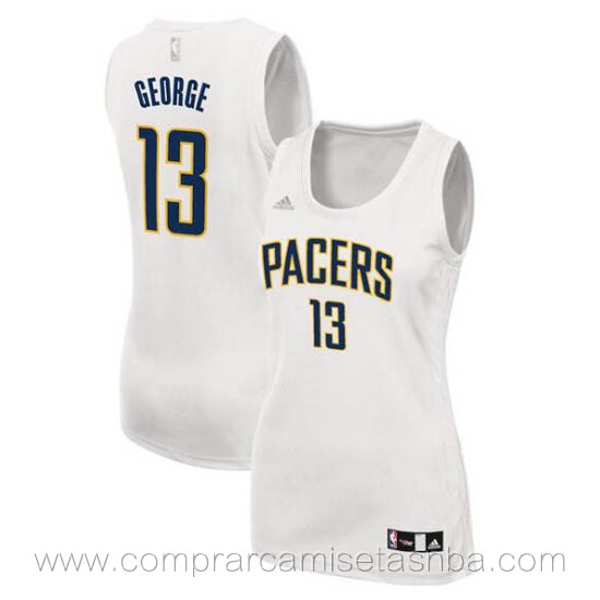 Camisetas nba del mujer blanco Paul George Indiana Pacers