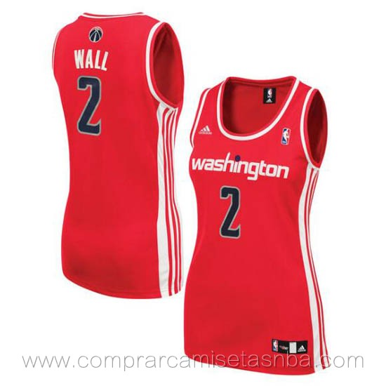 Camisetas nba del mujer rojo John Wall Washington Wizards