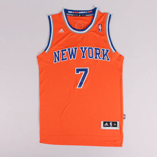 Camisetas nba del naranja Nickname Melo Carmelo Anthony New York Knicks