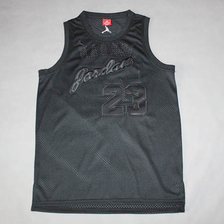 Camisetas nba del negro Michael Jordan Chicago Bulls Memorial