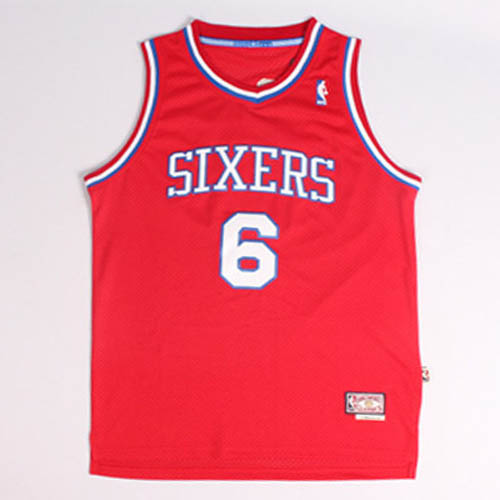 Camisetas nba del rojo Nickname DR.J Julius Erving Philadelphia 76ers