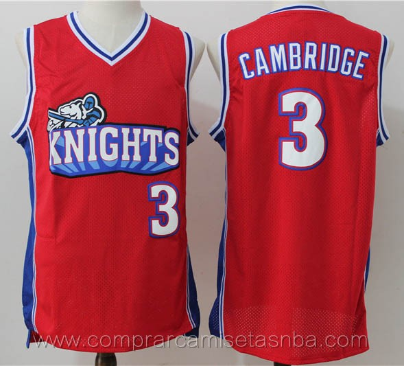 Camisetas de baloncesto rojo Calvin Cambridge Los Angeles Knights