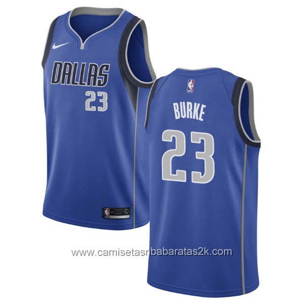 Camisetas nba baratas nike Azul #23 Trey Burke Dallas Mavericks
