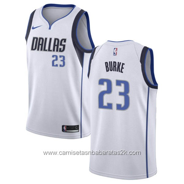 Camisetas nba baratas nike blanco #23 Trey Burke Dallas Mavericks