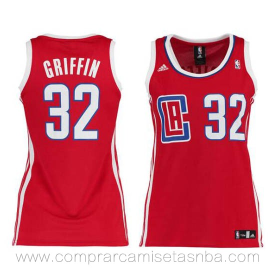 Camisetas nba mujer rojo Blake Griffin LA Clippers