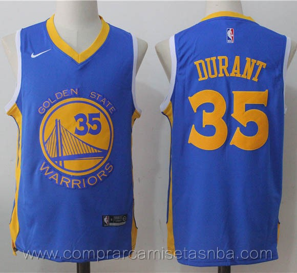 Camisetas nba nike negro Kevin Durant Golden State Warriors Version conceptual