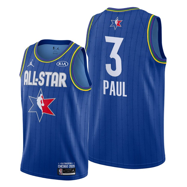 Camisetas NBA baratas Azul #3 Chris Paul para 2020 All-Star