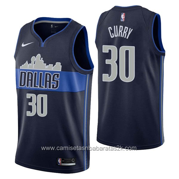 Camisetas nba baratas nike Statement #30 Seth Curry de Dallas Mavericks