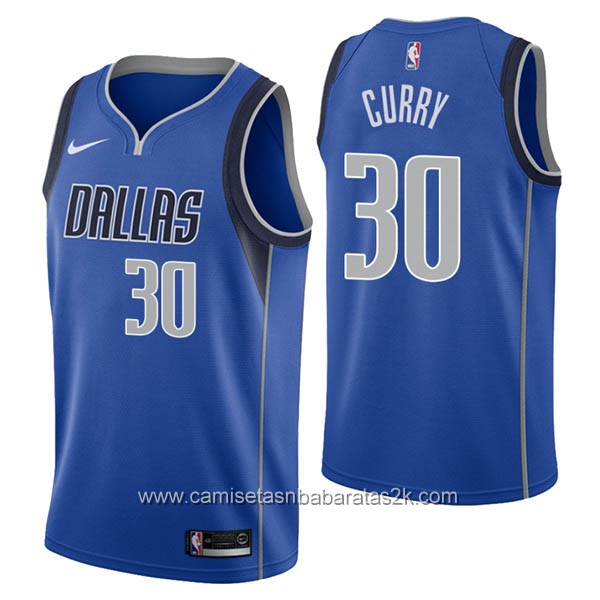 Camisetas nba baratas nike azul #30 Seth Curry de Dallas Mavericks