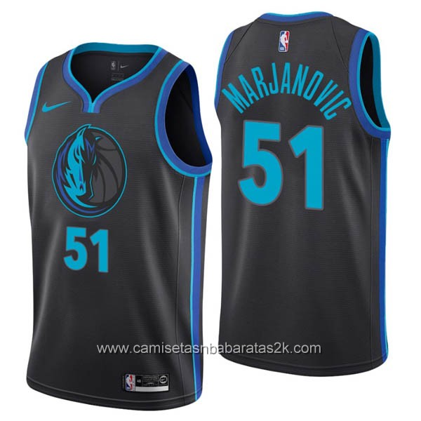Camisetas nba baratas nike City #51 Boban Marjanovic de Dallas Mavericks 2019