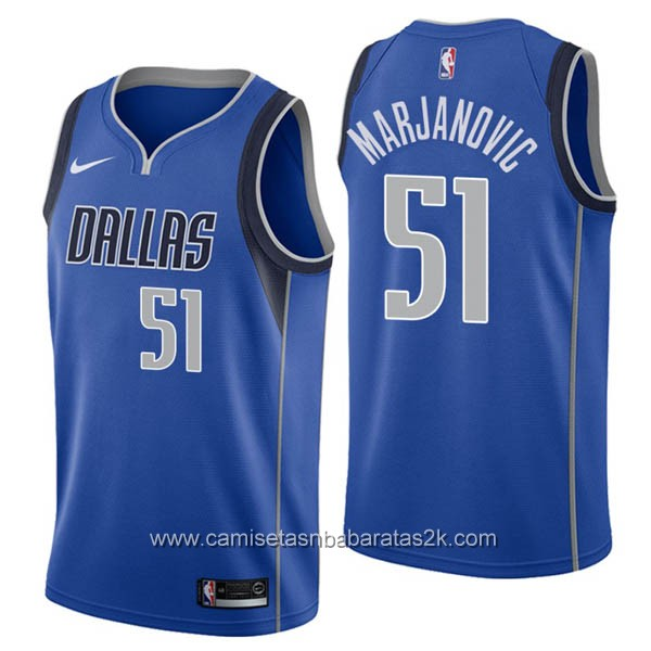 Camisetas nba baratas nike azul #51 Boban Marjanovic de Dallas Mavericks