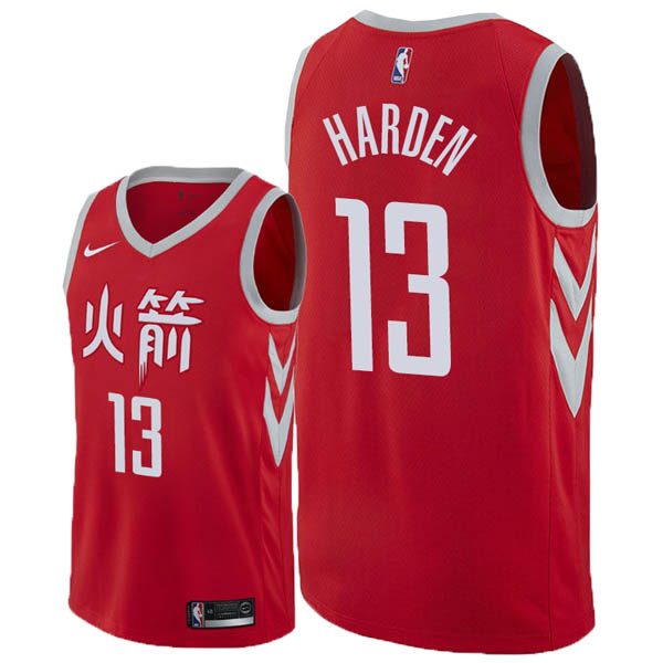 Camiseta James Harden baratas del #13 City Edition para Houston Rockets 2018