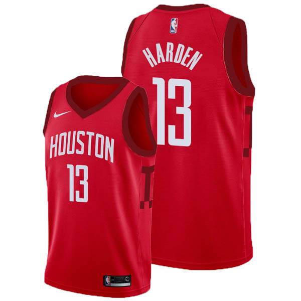 Camiseta James Harden baratas del #13 rojo Earned Edition para Houston Rockets